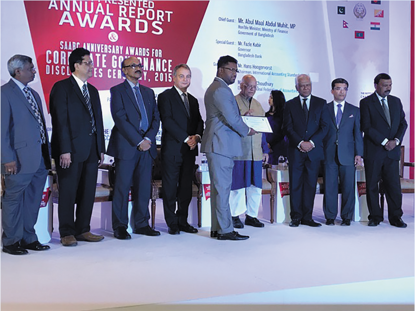 Certificate of Merit Awarded by SAFA (South Asian Federation of Accountants) for the Excellence in Integrated Reporting Award Ceremony held in Dhaka- Bangladesh