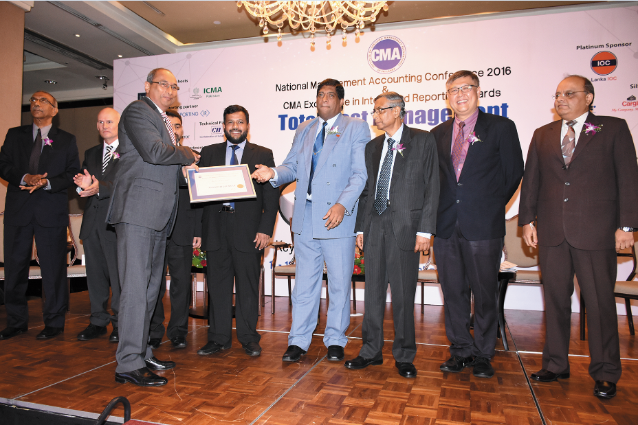 Certificate of Merit Awarded by CMA Sri Lanka for the Excellence in integrated Reporting Award-2016