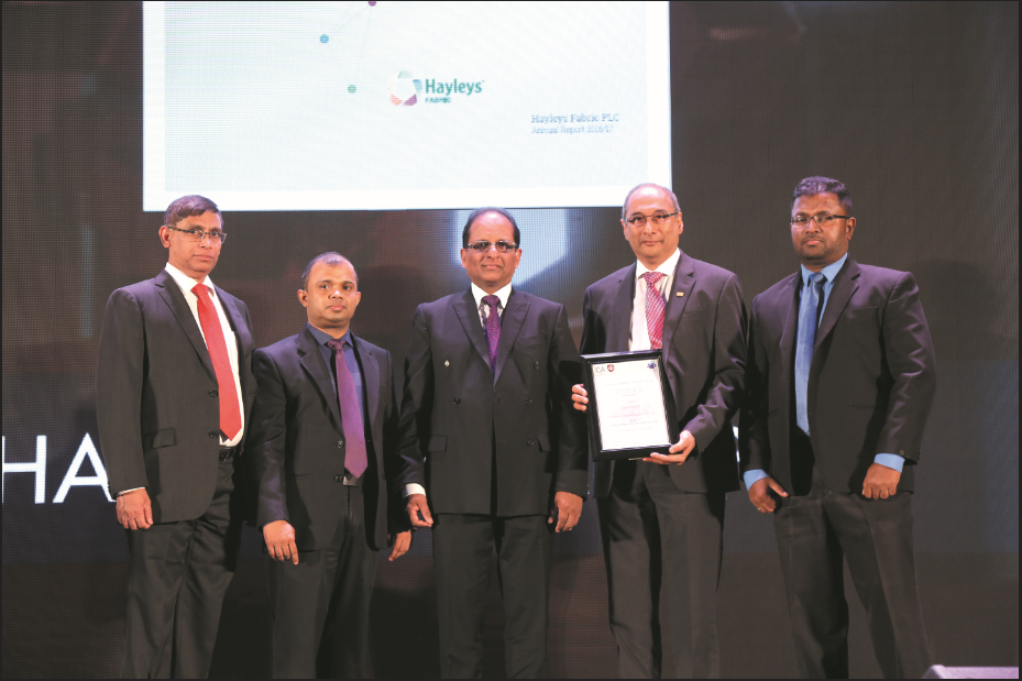 Won the Bronze Award for the 3rd consecutive year in the Manufacturing Sector  above Rs.5Bn Revenue category at the Annual Report Awarding Ceremony -2017  organized by CA Sri Lanka and Colombo Stock Exchange.