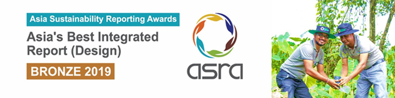 Hayleys Fabric PLC, bagged the bronze award for the Best Integrated Report Design at the Asia Sustainability Reporting Awards (ASRA) 2019 in Singapore. Hosted virtually due to the ongoing COVID-19 pandemic